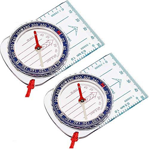 Aboat Pfadfinder-Kompass, Orientierungskompass, Kartenkompass für Wandern, Angeln, Camping, Navigation