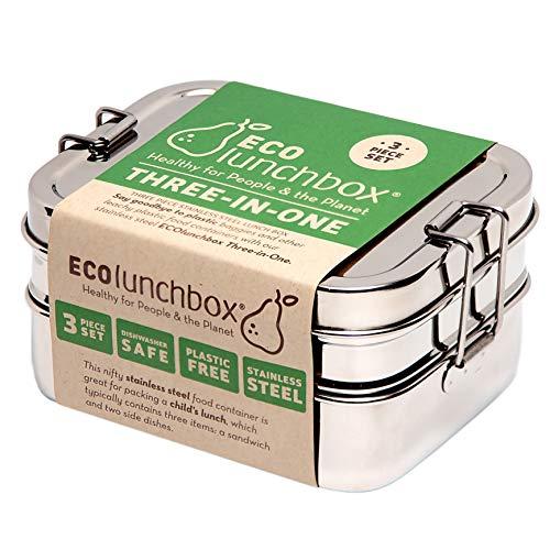 Ecolunchbox Three-in-One Stainless Steel Bento Box (1, Regular)