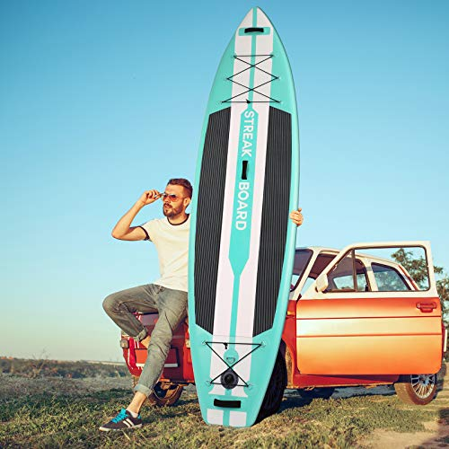 streakboard 11'6'' Inflatable Stand Up Paddle Board, Premium SUP Full...