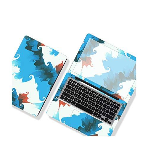 DIY Simple Color Cover Laptop Film Notebook Sticker 12/13/14/15/17 Inch For MacBook Dell HP Lenovo Etc Skin Decorat-SU-576-15'