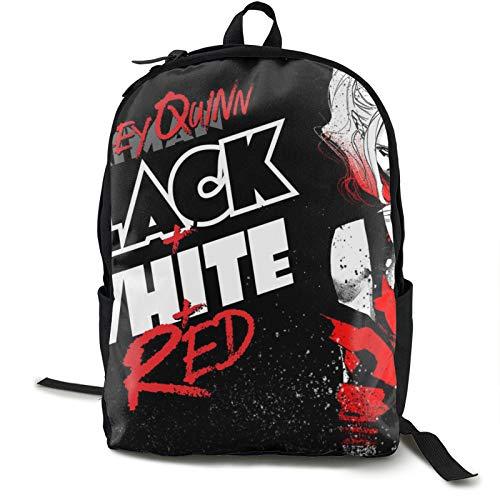 Suicide Squad Harley Quinn mochila transparente a través de la mochila bolsa de trabajo para hombres y mujeres