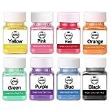 AOND Colorant en Poudre, 160g Colorant Savon pigments, 20g x 8 Couleurs de pigments de Poudre de mica Naturel à colorer Savon, Bombe de Bain, Pigment Colorant résine époxy, sel de Bain, Spa