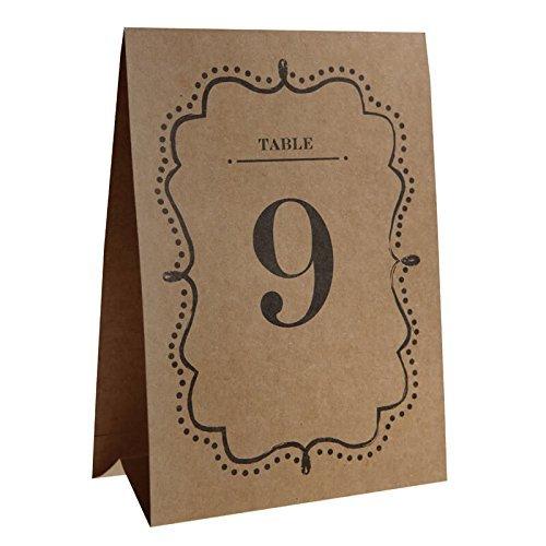 Tavolo Ummern–Appoggio/Copertura 1–10in stile trendy Vintage Style–Marrone con scrittura nero & viticcio–Dimensione Pro APPOGGIO 15x 21cm