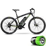 Bicicleta de carretera eléctrica, bicicleta de montaña híbrida para adultos (36V10Ah) Amortiguador de horquilla delantera con bloqueo de 24 velocidades y 5 velocidades, hasta 35 km / h,26*15.5inch