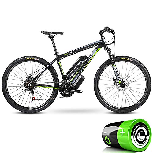 HJHJ Electric road bike, adult hybrid mountain bike detachable battery (36V10Ah) 24 speed 5 speed assist system lock front fork shock absorption, up to 35KM/H,26 * 15.5inch