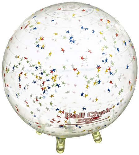 Abilitations 89.35 Gymnic Sit'N'Gym Therapy Ball with Built in Legs, 13-1/2 Inches, Clear with Stars