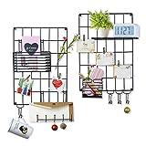 Love-KANKEI Wand Organizer DIY Eisen Grid Panel Foto Wand Multifunktion Metall Mesh Wand Dekor Hanging Photo Art Display und Organizer