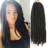 6 Packs Marley Twist Braiding Hair 24 Inch Marley Hair Crochet Braids Long Afro Kinky Synthetic Kanekalon Fiber Marley Hair For Twists Braiding Hair Extensions (24inch, 2#)