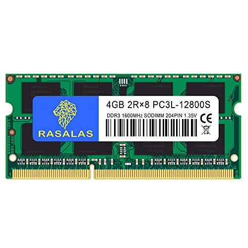 DDR3L 1600 PC3L-12800 4GB×1枚 1.35V (低電圧) ノートPC用 メモリCL11 204Pin Non-ECC SO-DIMM 永久保証
