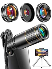 【Phone Photography and Videography Like a Pro】Designed for enthusiasts and professionals, CoPedvic phone camera lens is perfect for exploring more advanced mobile photography and Videography. Top-notch multi-resistant coatings are adopted to these le...
