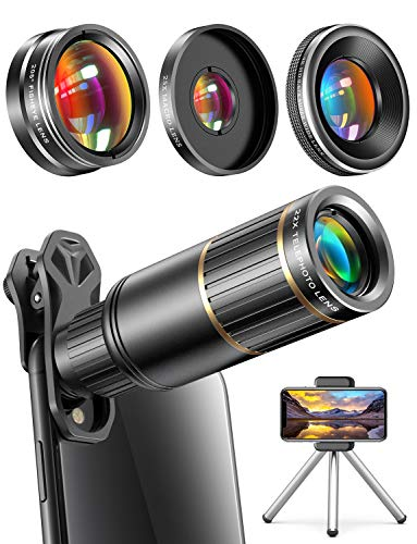 top 10 smartphone camera lens CoPedvic Phone Camera Lens iPhone Phone Lens Samsung Pixel Android, 22X Telephoto Lens, 4K HD…