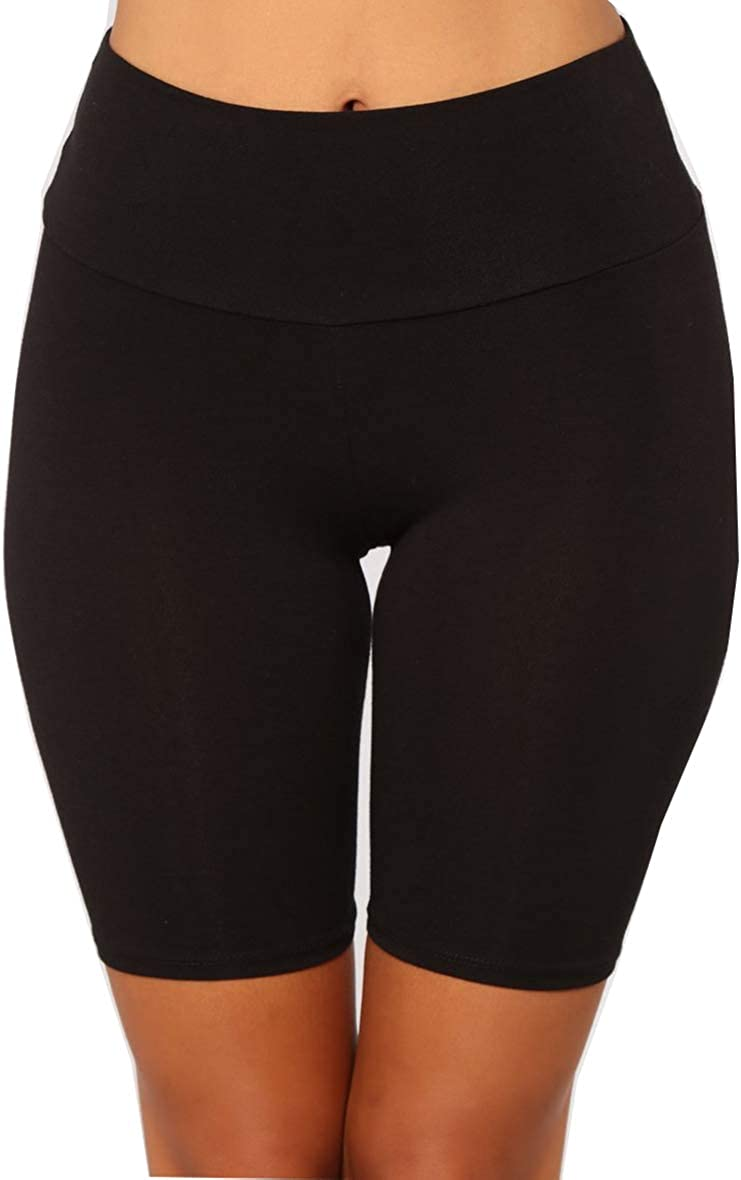wsevypo Women's Shiny Biker Shorts High Waist Bodycon Active Gym Workout Yoga Short Leggings Spandex Stretch Bright Shorts