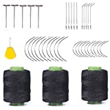 Weaving Needle Combo Deal 3Pcs Black Thread with 20pcs C Needle,5Pcs J Shap, 5Pcs I Shap and 10 Wig T Pins for Making Wig Sewing Hair Weft Hair Weave Extension black hair products May, 2021