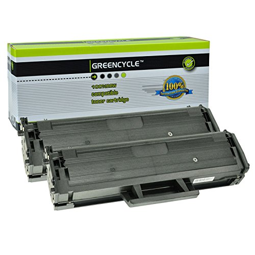 GREENCYCLE 2 Pack High Yield Toner Cartridge Replacement Compatible for Samsung D111L MLT-D111L use in Xpress SL-M2020W M2020W SL-M2070FW SL-M2070W M2070FW M2020 M2022 M2022W Printer