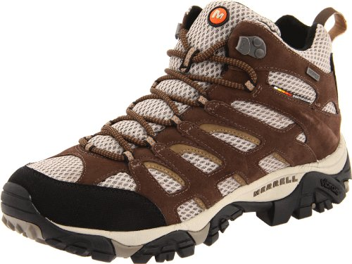 Merrell Men's Moab Mid Waterproof Hiking Boot,Earth,8.5 M US
