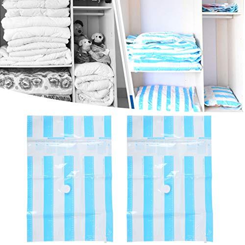 Bolsa de almacenamiento, bolsa de vacío para ropa de doble capa, entrada de aire reutilizable de 3,5 cm, almacenamiento eficiente, 10 piezas para toallas, ropa, suministros para el hogar,(60*40CM)