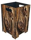 Papierkorb groß Holzscheibe von Werkhaus
