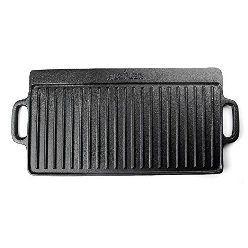 Rustler RS-4400 Grillplatte eckig, schwarz, 43 cm