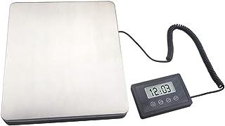 lqgpsx Básculas Digitales de envío para Servicio Pesado Básculas de pesaje Multiusos Plataforma de pesaje de Acero Inoxidable Grande Básculas de Equipaje 180 kg/100 g