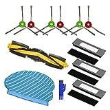 Pceewtyt Adecuado para aspiradora robots Deebot OZMO 950 OZMO 920, cepillo lateral, filtro de tela...