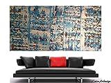 WEISE XXL Acryl BILD Abstrakt Gemälde Leinwand 120 x 60 auf Keilrahmen 150/18 NEU