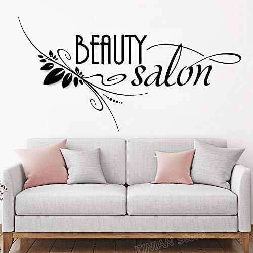 Yaonuli schoonheidssalon logo vinyl wandsticker woonkamer kapper kapper trekker raamdecoratie creatief