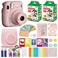Fujifilm Instax Mini 11 Instant Camera Blush Pink + Carrying Case + Fuji Instax Film Value Pack (40 Sheets) Accessories Bundle, Color Filters, Photo Album, Assorted Frames from FUJIFILM