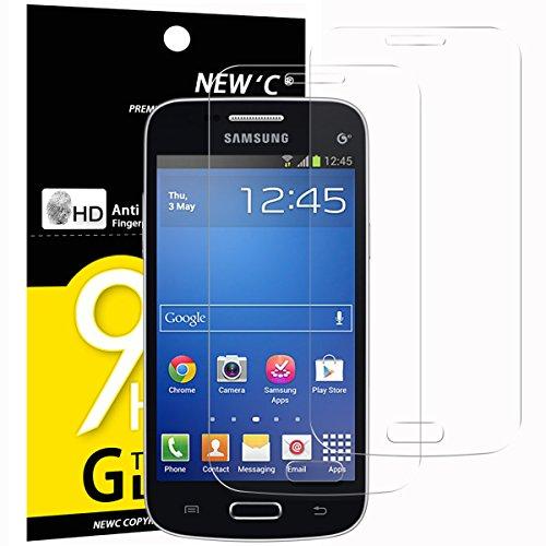 NEW'C 2 Unidades, Protector de Pantalla para Samsung Galaxy Trend Lite, Vidrio Cristal Templado