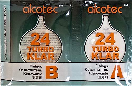 AlcoTec HUGBERT Turbo Klar 24h Klärmittel Schönung Vodka Alkohol Schnaps Wein Bier, 1 Stück
