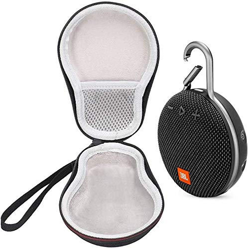 JBL Clip 3 IPX7 Waterproof Portable Bluetooth Speaker Bundle with Deluxe Travel Case (Black)
