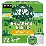 Green Mountain Coffee Roasters Breakfast Blend, Single-Serve Keurig K-Cup Pods, Light Roast Coffee, 72 Count