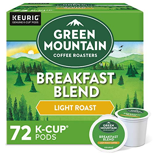Green Mountain Coffee Roasters Breakfast Blend, Single Serve Coffee K-Cup Pod, Light Roast