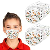 50Pcs Kids Colorful Dye Print Face Masks,Kids Disposable Mask Boys and Girls,3ply Disposable Face Mask,50 Count,4-12 Years Old,Breathable Face Masks for Kids Daily Use,Various Christmas Theme Patterns