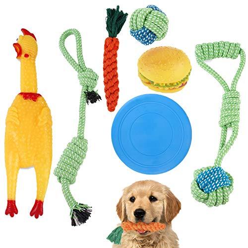 MAYZHOU ロープおもちゃ 犬おもちゃ 噛むおもちゃペット用 コットン ストレス解消 丈夫 耐久性 清潔 歯磨き...
