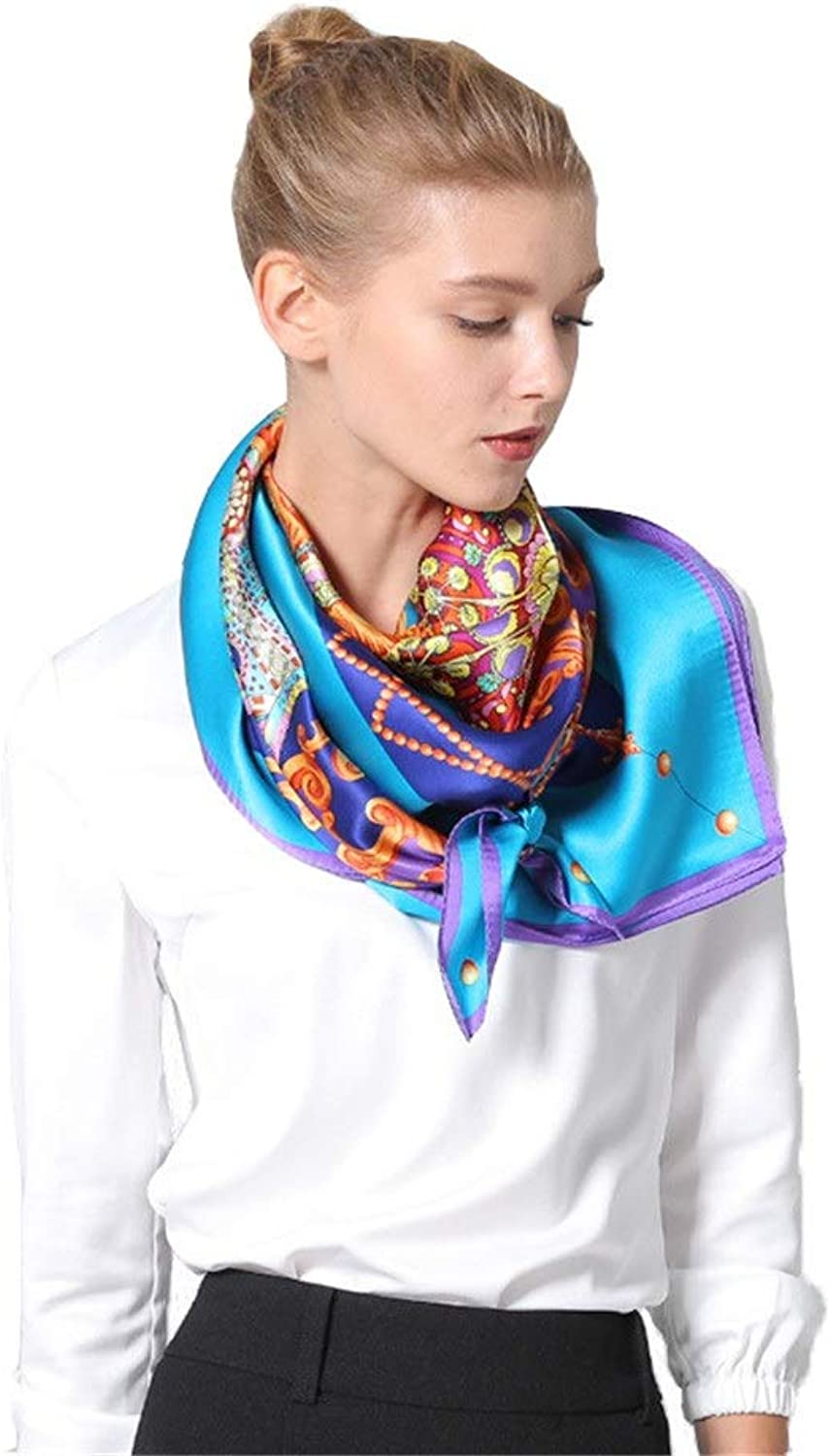 Classic Lady Retro Silk Feel Big Scarf Scarf Headscarf