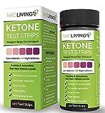 Tiras de prueba de cetonas de NKD Living (120 tiras de prueba) * Detecta y mide con precis...