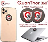 QuanThor 2 Stück 360 rund EMF Schutz Tesla Technologie: EMF Absorption von Zelle Telefon, WiFi, Laptop-All EMF Devices|Negative Ion Generator| International Awards|Anti Strahlung Schild (2packq360)