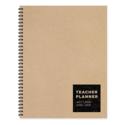 Kraft Teacher Lesson Plan Book July 2020 - June 2021 Planner: Weekly Monthly Teacher Planner - Academic Year Lesson Plan