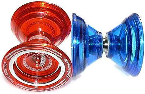 Super Fun! MagicYo MAGICYOYO K10 Behemoth Yo-Yo Unresponsive YoYo Super Wide Polycarbonate with Metal Ring Red