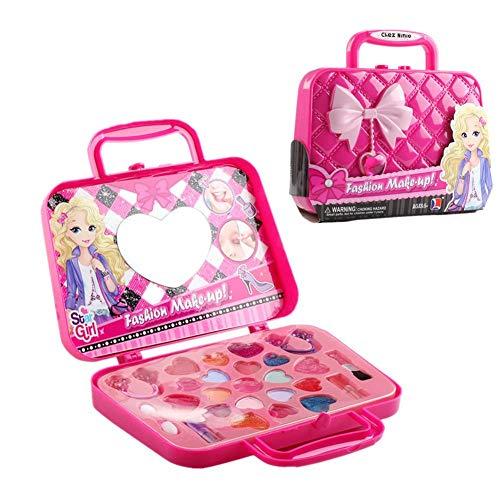 Echtes Make-up-Spielzeug für Mädchen, Kosmetik-Rollenspiel-Etui mit Spiegel Prinzessin...