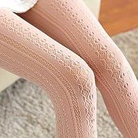 LONGJUAN-C 女性のニットコットンソリッドパンストの女の子タイツストッキングファッション冬秋の暖かいかぎ針編みパンスト9色の女性の衣服 美尻 (Color : Pink)