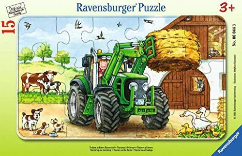 Ravensburger Kinderpuzzle 06044 - Traktor auf dem Bauernhof - Rahmenpuzzle