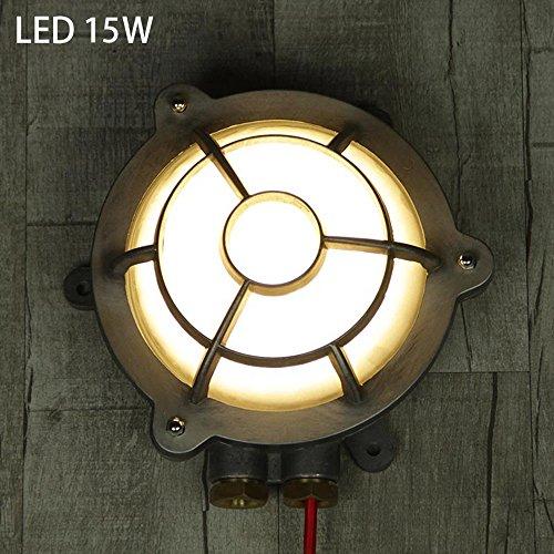 Unbekannt Zhang-Wandleuchte- Amerikanisch Industriestil Retro Runden Kreativ LED Wandlampe Draussen Badezimmer Explosionsgeschützt Gasherd Wandleuchten - Wandbeleuchtung Dekoration