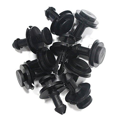 Tuqiang Push Bumper Fender Panneau de garniture de porte Clips Embases Fastener Rivet Clips (DE 30 Couvre-sièges de) Noir