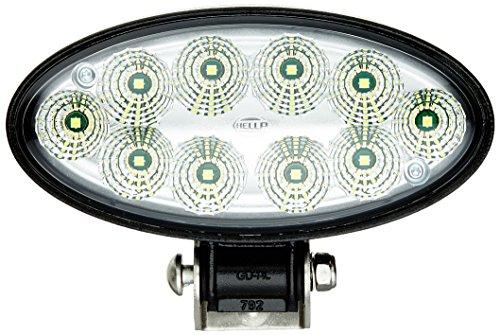 Hella 1GB 996 486-011 Arbeitsscheinwerfer - Oval 90 Gen. II - LED - 12V/24V - 4300lm - Anbau/Bügelbefestigung - hängend/stehend - weitreichende Ausleuchtung - Deutsch