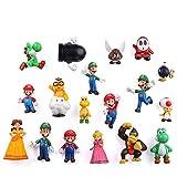 MIAOGOU Mario Bros Pegatinas 18pcs Mario Magnet Cartoon Super Mario Decoración Nevera Imanes De Gran Tamaño Creative PVC Potente Nevera Imanes Decoración