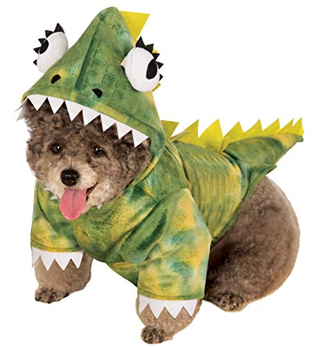 Rubie's Pet Costume, Green dinosaurus Hoodie, Large, multicolor