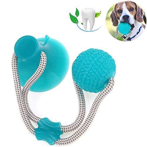 Multifunktions-Pet Molar Bite-Spielzeug, Hundekauspielzeug Gummiball Mit Saugnapf, Hündchen Interaktiv Schlepper Seil Ball Zahnreinigungs-Tool Für Hunde Welpen