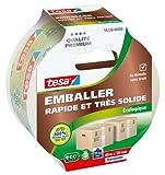 Tesa 58226-00000-00 - Cinta adhesiva para embalar (ecológica, 50 mm x 40 m), color transparente