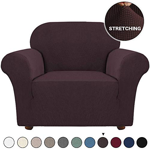 Armchair Slipcover 1 Piece Chair Couch Spandex Form Fit Slipcover Machine Washable...